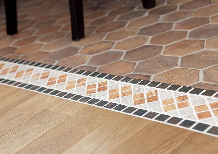 水回りは汚れてもいいように 床をクッションフロア
