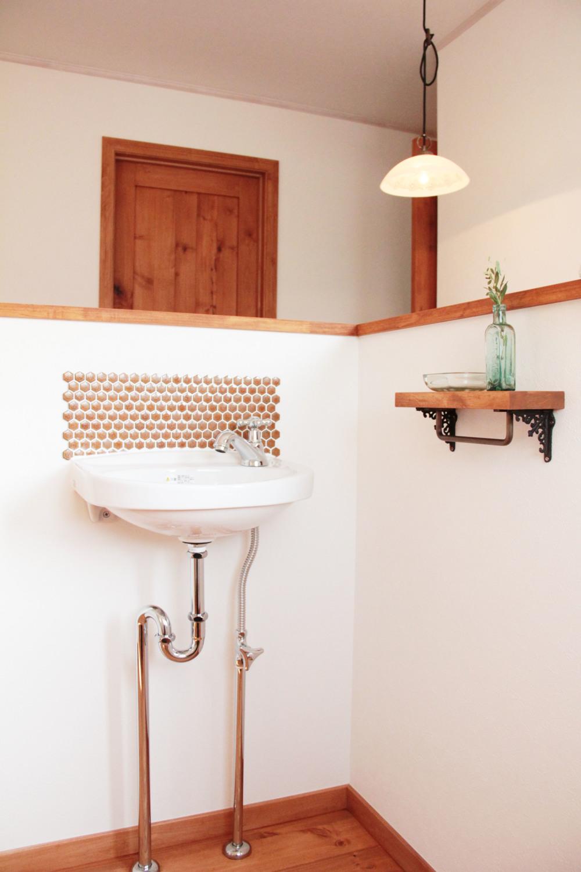 2階の手洗いコーナー